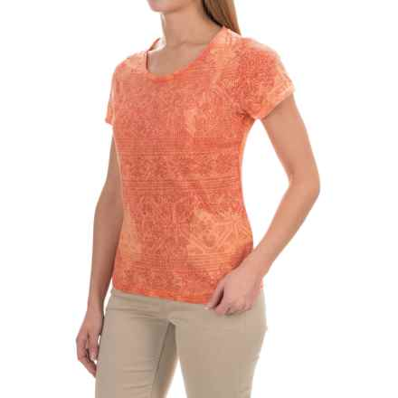 White Sierra Shiva Burnout T-Shirt - Short Sleeve (For Women) in Melon - Closeouts