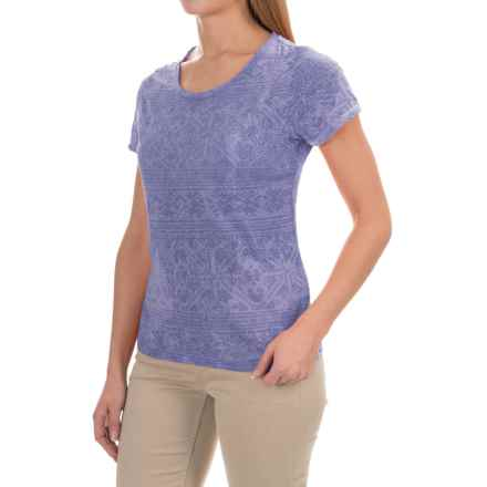 White Sierra Shiva Burnout T-Shirt - Short Sleeve (For Women) in Periblue - Closeouts