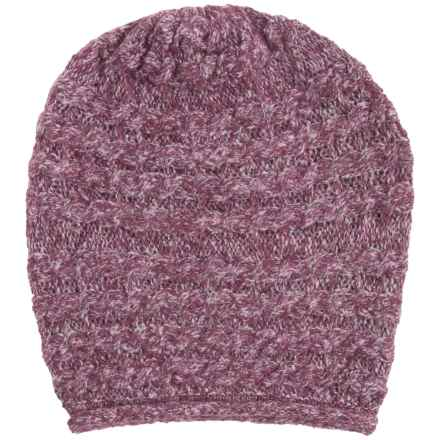 White Sierra Shooting Stars Beanie - Wool Blend (For Women) in Crushed Grape - Closeouts