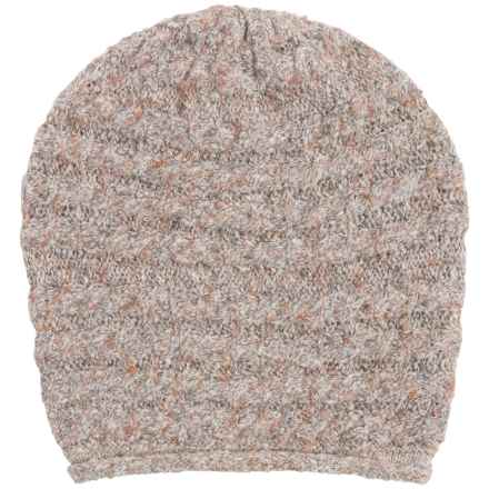 White Sierra Shooting Stars Beanie - Wool Blend (For Women) in Oatmeal Heather - Closeouts