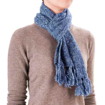 White Sierra Shooting Stars Scarf - Wool Blend (For Women) in Blues - Closeouts