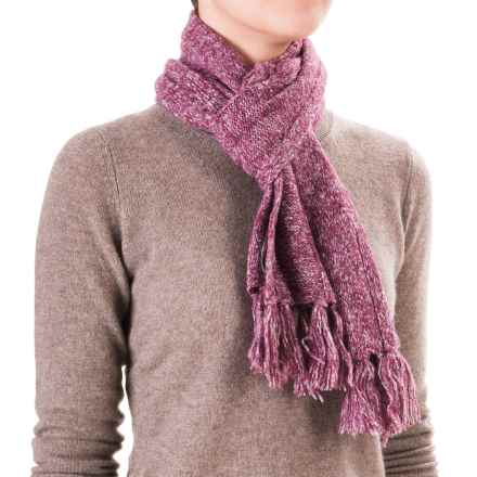 White Sierra Shooting Stars Scarf - Wool Blend (For Women) in Crushed Grape - Closeouts