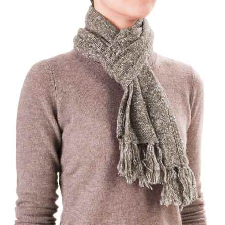 White Sierra Shooting Stars Scarf - Wool Blend (For Women) in Oatmeal Heather - Closeouts