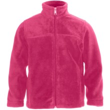 White Sierra Sierra Mountain Fleece Jacket (For Little and Big Kids) in Bright Rose - Closeouts