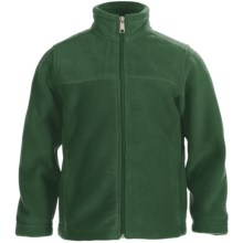White Sierra Sierra Mountain Fleece Jacket (For Little and Big Kids) in Dark Thyme - Closeouts