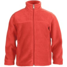 White Sierra Sierra Mountain Fleece Jacket (For Little and Big Kids) in Hot Coral - Closeouts