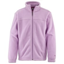 White Sierra Sierra Mountain Fleece Jacket (For Little and Big Kids) in Sheer Lilac - Closeouts