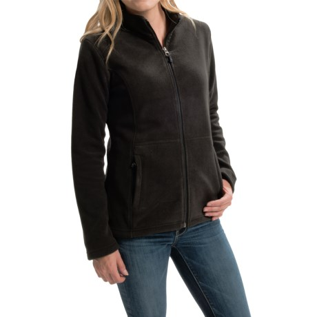 White Sierra Sierra Mountain Fleece Jacket (For Women) in Black
