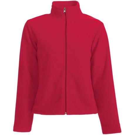 White Sierra Sierra Mountain Fleece Jacket (For Women) in Tango Red