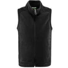 White Sierra Sierra Mountain Fleece Vest (For Little and Big Kids) in Black - Closeouts