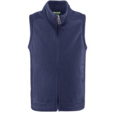 White Sierra Sierra Mountain Fleece Vest (For Little and Big Kids) in Blue Indigo - Closeouts