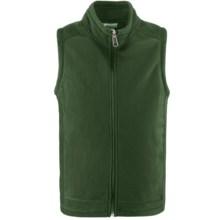 White Sierra Sierra Mountain Fleece Vest (For Little and Big Kids) in Dark Thyme - Closeouts