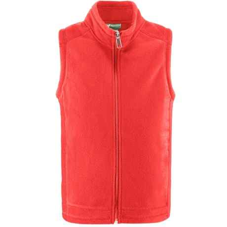 White Sierra Sierra Mountain Fleece Vest (For Little and Big Kids) in Hot Coral