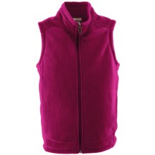 White Sierra Sierra Mountain Fleece Vest (For Little and Big Kids) in Rose Bude - Closeouts