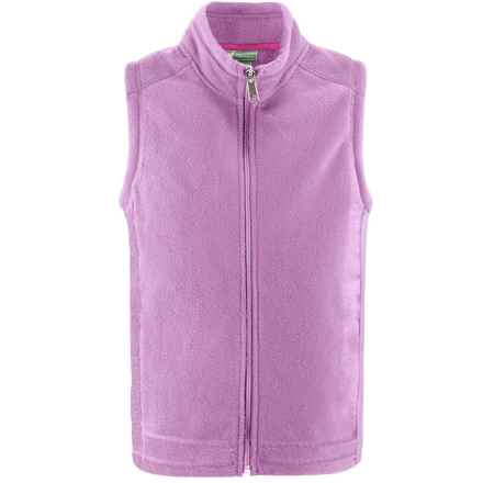 White Sierra Sierra Mountain Fleece Vest (For Little and Big Kids) in Sheer Lilac - Closeouts