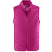 White Sierra Sierra Mountain Fleece Vest (For Little and Big Kids) in Sugar Plum - Closeouts