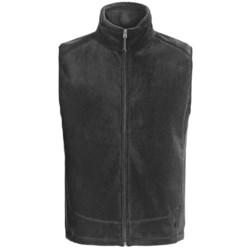 White Sierra Sierra Mountain Fleece Vest (For Men) in Charcoal Heather