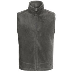 White Sierra Sierra Mountain Fleece Vest (For Men) in Black