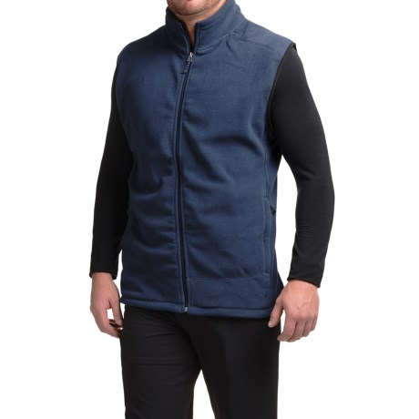 White Sierra Sierra Mountain Fleece Vest (For Men) in Navy