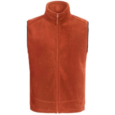 White Sierra Sierra Mountain Fleece Vest (For Men) in Picante
