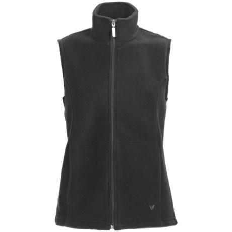 White Sierra Sierra Mountain Fleece Vest (For Women) in Black