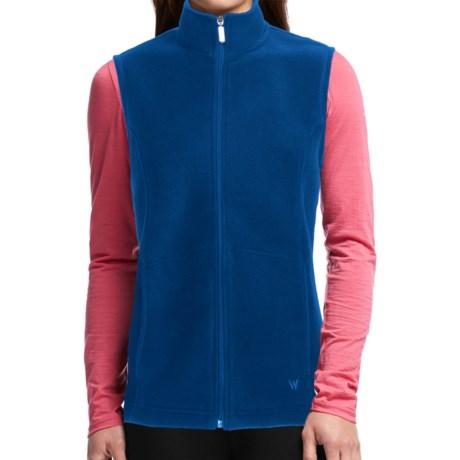 White Sierra Sierra Mountain Fleece Vest (For Women) in Blue Print
