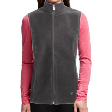 White Sierra Sierra Mountain Fleece Vest (For Women) in Charcoal Heather