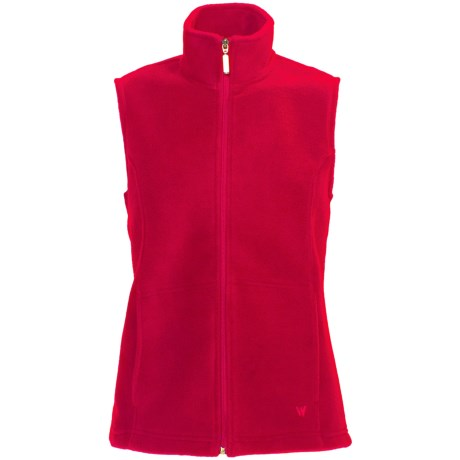 White Sierra Sierra Mountain Fleece Vest (For Women) in Tango Red