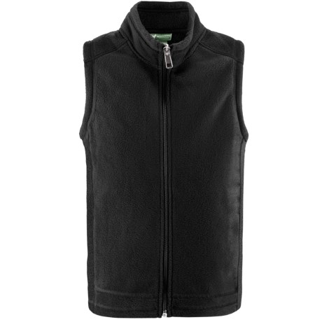 White Sierra Sierra Mountain Fleece Vest (For Youth) in Black