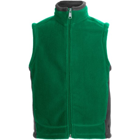 White Sierra Sierra Mountain Fleece Vest (For Youth) in Emrald Green