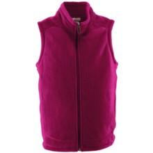 White Sierra Sierra Mountain Fleece Vest (For Youth) in Rose Bude - Closeouts