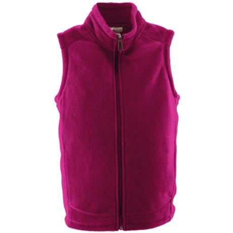 White Sierra Sierra Mountain Fleece Vest (For Youth) in Rose Bude