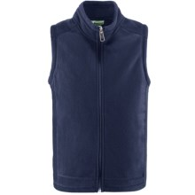 White Sierra Sierra Mountain Fleece Vest (For Youth) in Vintage Indigo - Closeouts
