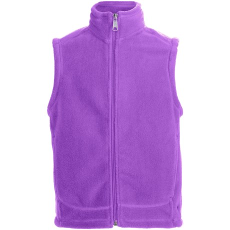 White Sierra Sierra Mountain Fleece Vest (For Youth) in Wisteria