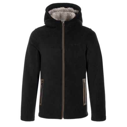 White Sierra Sierra Mountain Hooded Fleece Jacket (For Boys) in Black - Closeouts