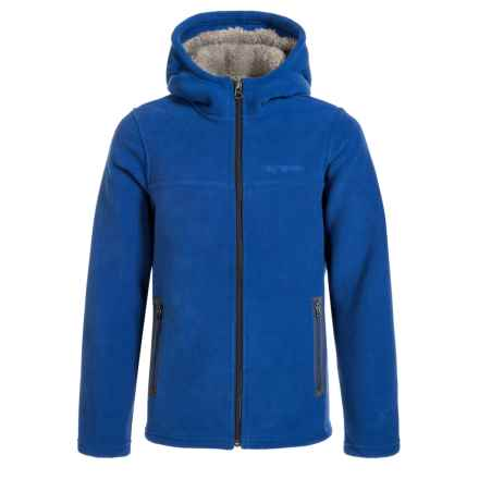 White Sierra Sierra Mountain Hooded Fleece Jacket (For Boys) in Shield Blue - Closeouts