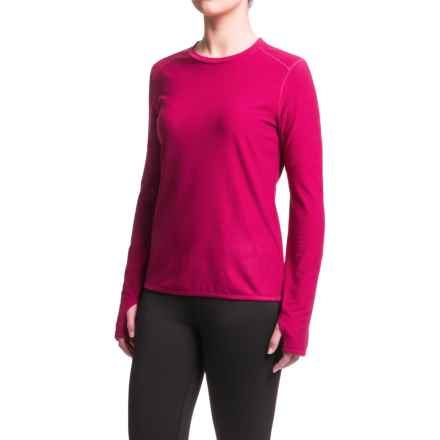 White Sierra Sierra Ridge Stripe Shirt - Crew Neck, Long Sleeve (For Women) in Rosebud - Closeouts