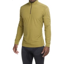 White Sierra Sierra Ridge Stripe Shirt - Zip Neck, Long Sleeve (For Men) in Dark Sage - Closeouts