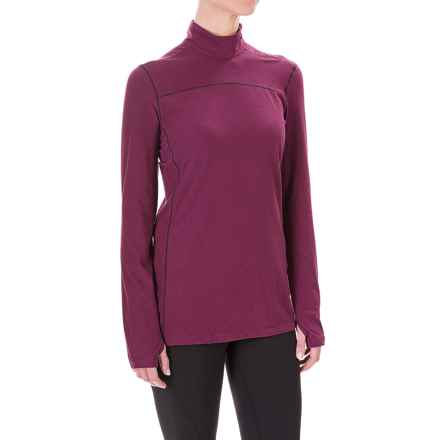 White Sierra Sierra Ridge Stripe Shirt - Zip Neck, Long Sleeve (For Women) in Deep Purple - Closeouts