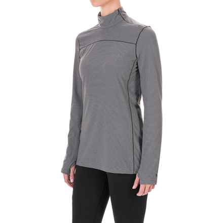 White Sierra Sierra Ridge Stripe Shirt - Zip Neck, Long Sleeve (For Women) in Sleet Grey - Closeouts