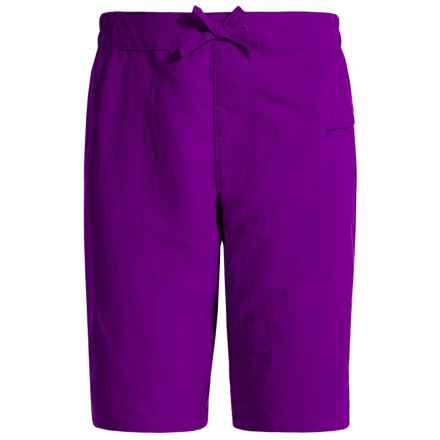 White Sierra Sierra Stream Shorts (For Little and Big Girls) in Shadow Purple - Closeouts