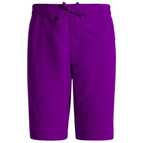 White Sierra Sierra Stream Shorts (For Little and Big Girls) in Shadow Purple