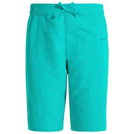 White Sierra Sierra Stream Shorts (For Little and Big Girls) in Viridian Green - Closeouts