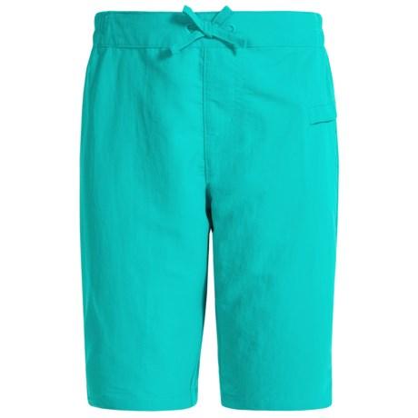 White Sierra Sierra Stream Shorts (For Little and Big Girls) in Viridian Green