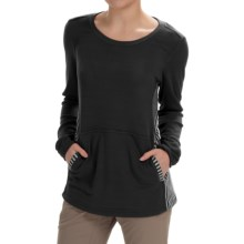 White Sierra Sierra Stripe Crew Neck Sweater (For Women) in Black - Closeouts