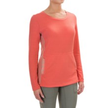 White Sierra Sierra Stripe Crew Neck Sweater (For Women) in Dark Coral - Closeouts