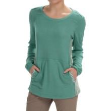 White Sierra Sierra Stripe Crew Neck Sweater (For Women) in Shasta Green - Closeouts