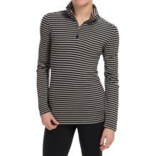 White Sierra Sierra Stripe Shirt - Zip Neck, Long Sleeve (For Women) in Black - Closeouts