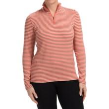 White Sierra Sierra Stripe Shirt - Zip Neck, Long Sleeve (For Women) in Dark Coral - Closeouts