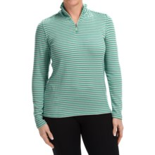 White Sierra Sierra Stripe Shirt - Zip Neck, Long Sleeve (For Women) in Shasta Green - Closeouts